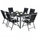 CORDOBA Plus Salon de jardin 6 chaises + table Alu