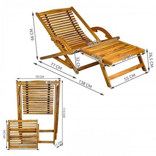 Transat en bois dimensions