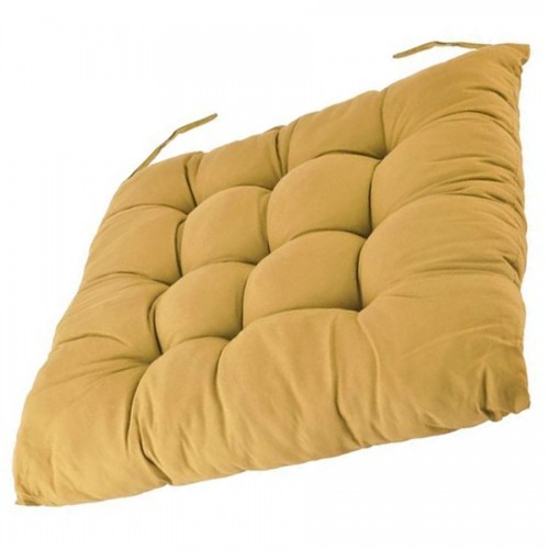 Coussin galette beige