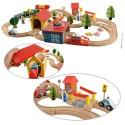 Petit train circuit en bois, univers, assemblage, pièces