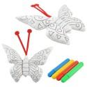 Papillon à colorier détail