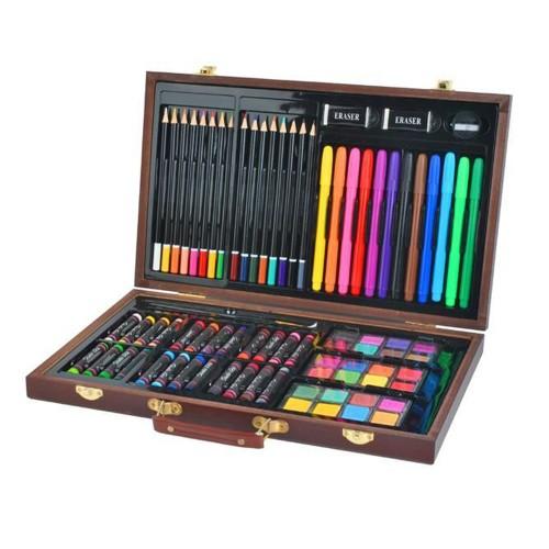 Mallette crayons coloriage coffret dessin 81 pièces