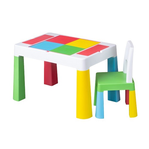 TEGA BABY Table + chaise enfant dessin et jeu construction