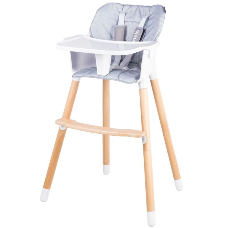 Chaise haute KOEN grise