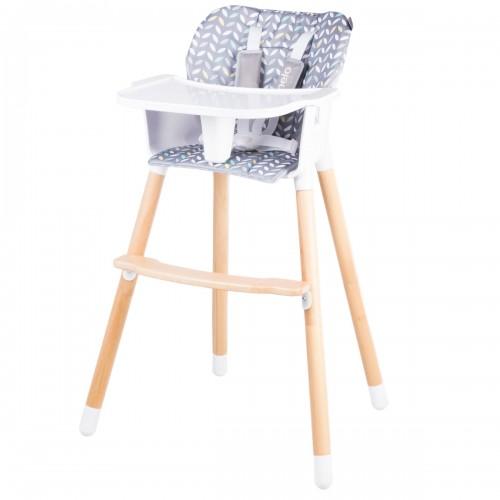 KOEN Chaise haute en bois style scandinave et évolutive