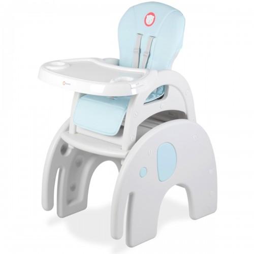 ELI Chaise haute 2en1 évolutive bureau+chaise de 6 mois à 6 ans