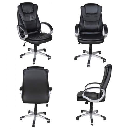 Chaise de bureau noir pivotante