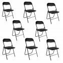 Lot de 8 chaises pliantes
