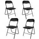 Lot de 4 chaises pliantes