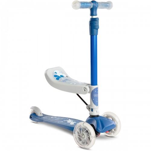 TIXI Trottinette évolutive à 3 roues avec siège rabattable