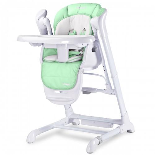 INDIGO Chaise haute balancelle bébé musicale 2en1 motorisée