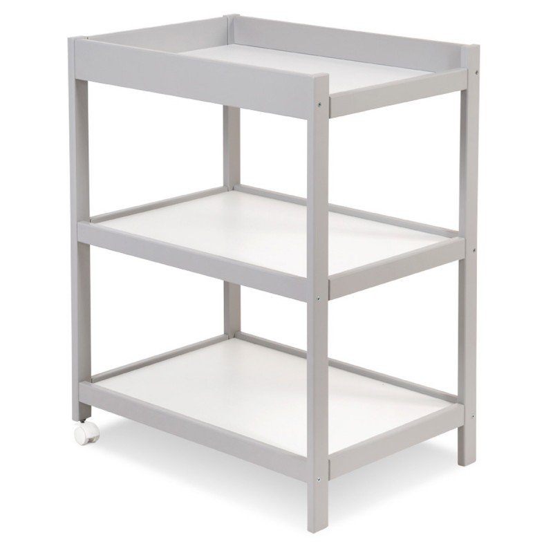 Table à langer grise