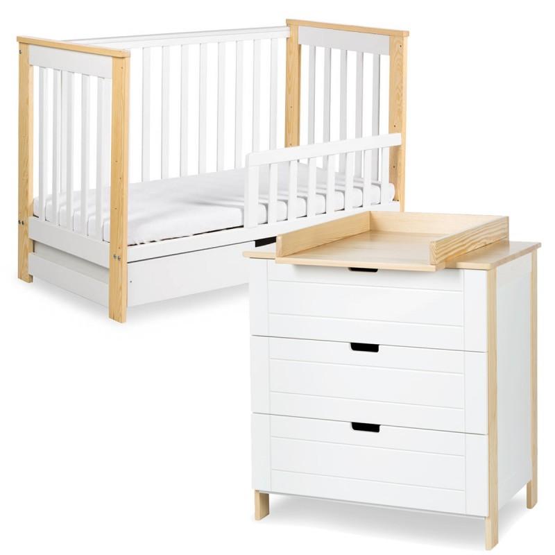 Ensemble commode et lit bébé