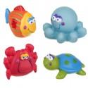 Lot de 4 jouets de bain