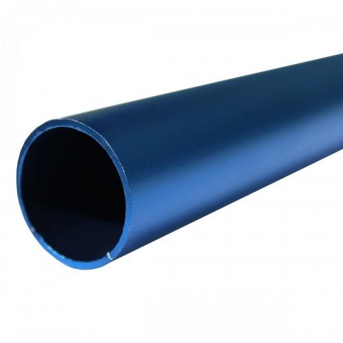 tube aluminium anodisé noir lot de 2