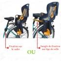 Siège de vélo enfant bébé fixation porte-bagages