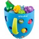 Rangement jouets baignoire bleu