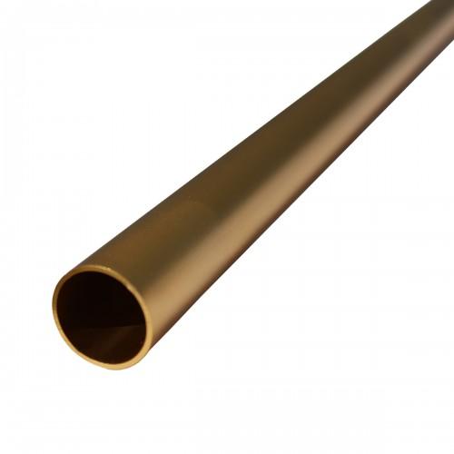 Tube aluminium anodisé doré
