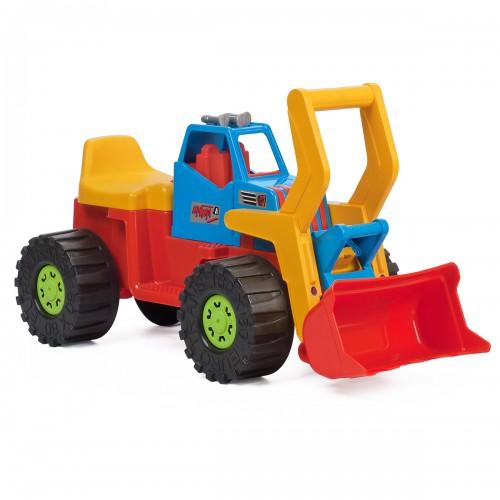 Porteur tractopelle camion enfant jouet d'extérieur