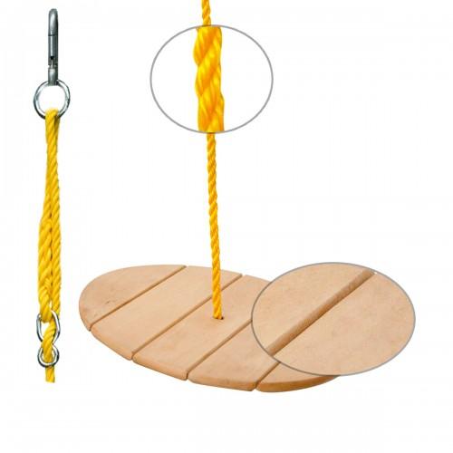 Balancoire ronde bois