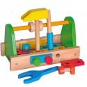 BRICO Jeu boîte 18 outils jouets en bois bricolage établi