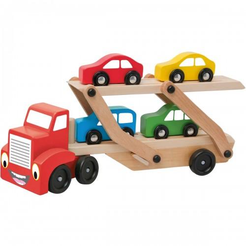 TOM Camion remorque porte voitures jouet en bois