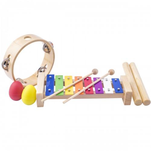 ZIC Set musical 3 instruments xylophone maracas tambourin