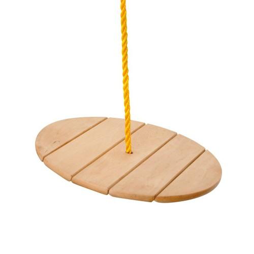 HOP Balançoire en bois disque rond avec corde de singe