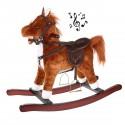JUMPY Cheval à bascule musical en bois & peluche