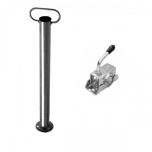 STAND Béquille remorque Winterhoff avec collier Ø 48 mm