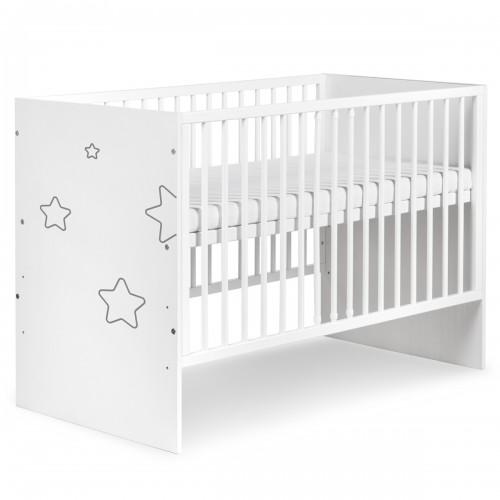 TINO Lit bébé à barreaux avec motifs étoiles