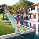 Toboggan extérieur piscine