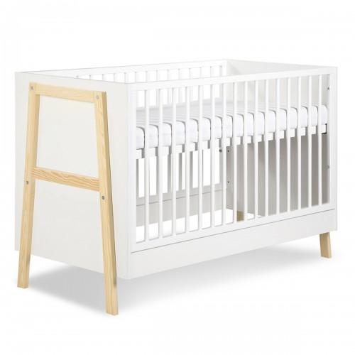 HUGO Lit bébé à barreaux 120x60 avec sommier réglable
