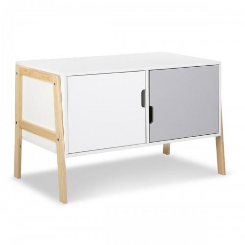 HUGO Commode à langer bébé évolutive en bureau et meuble bas