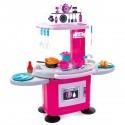 HOM Dînette cuisine rose pour enfant 28 accessoires inclus