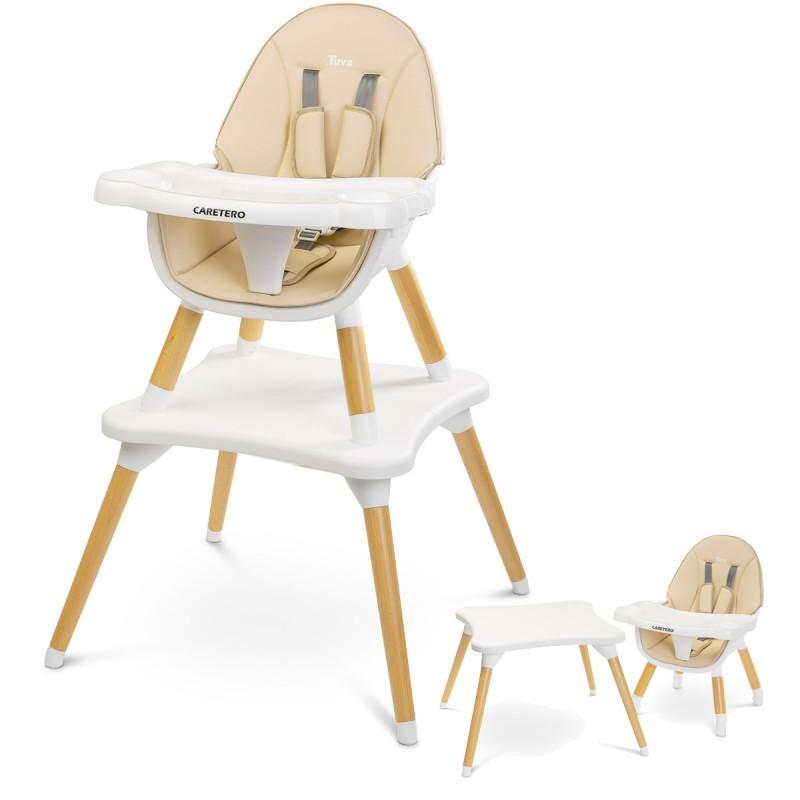 Chaise haute évolutive beige