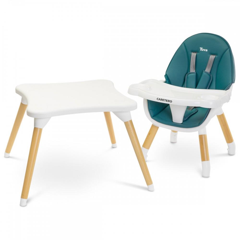 Chaise haute scandinave 6 en 6 évolutive en table et chaise pour