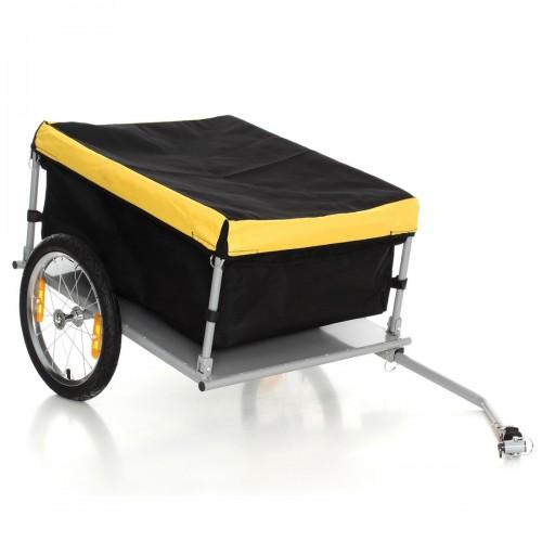 Remorque pour bagage de vélo scooter pliable avec sac