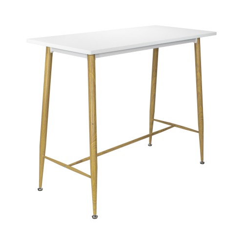 Table style scandinave blanche et bois clair
