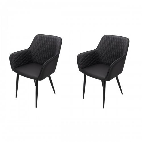 fauteuils noirs