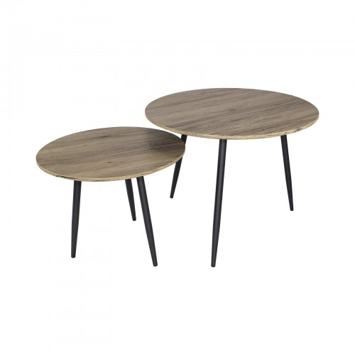 lot de 2 tables basses gigognes