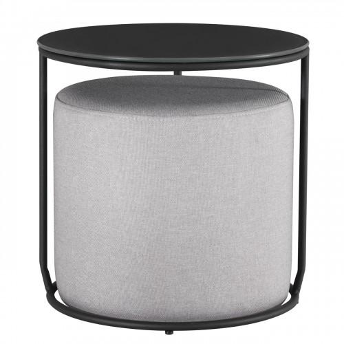 Table noir métal