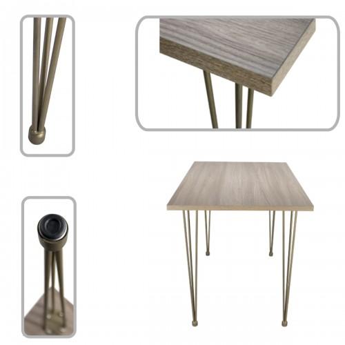 Table avec pieds métal
