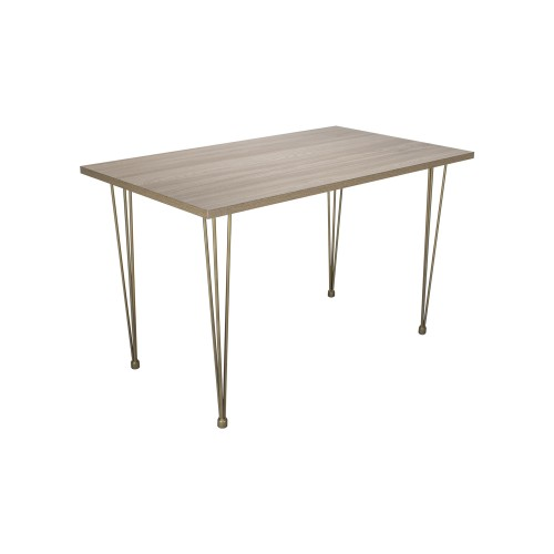 Table avec plateau imitation bois