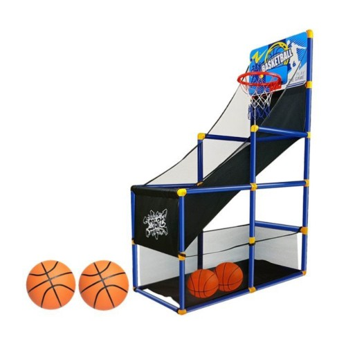 Panier de basket avec 2 ballons