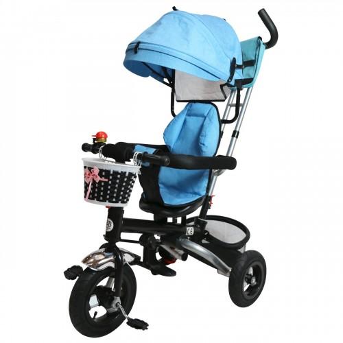 Tricycle poussette bleu