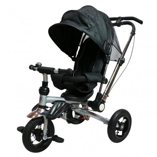 MALO Tricycle poussette pliable avec guidons parental dès 6 mois
