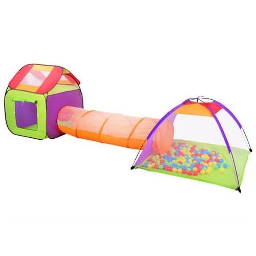 Tunnel et tente + 200 balles pour enfant Igloo jeu