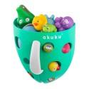 Rangement jouets baignoire vert