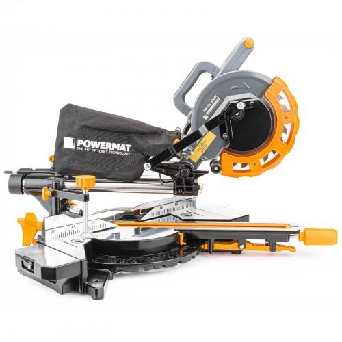 Scie à onglet pour bois 2000W lame 24 dents Ø 210 mm avec laser et led